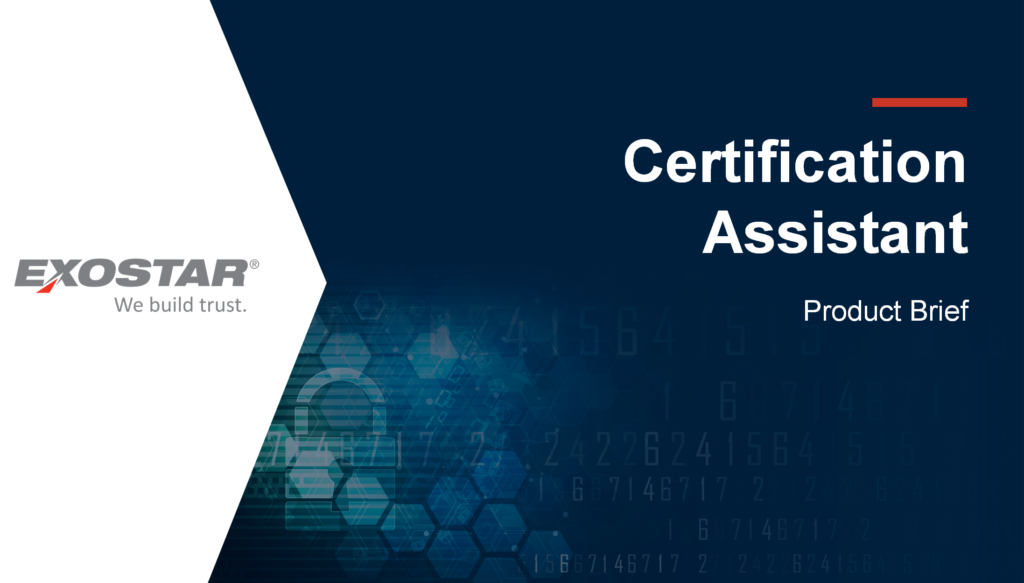 Certificate Assistant Product Brief Cover